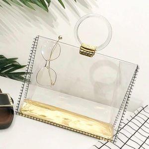 Handbags - Transparent Magazine Holder Handbag